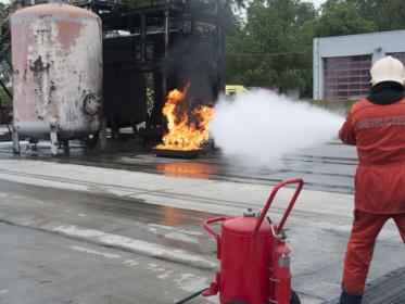 Wheeled extinguishers