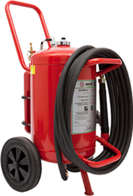 Wheeled AFFF frost protected foam extinguisher