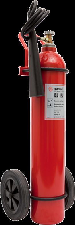 Wheeled CO2 extinguisher