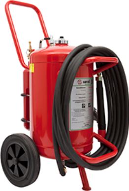 Wheeled AFFF foam extinguisher