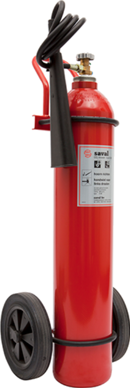 Wheeled CO2 extinguisher