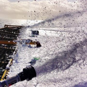 Replacing a failing foam bladder tank on offshore asset